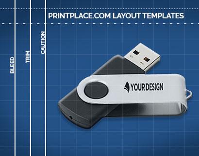 Rotate Flash Drive 4GB templates thumbnail