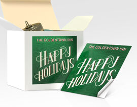 square stickers for seasonal campaigns