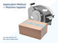 Packaging Tape application method machine applied