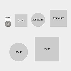 most popular custom label sizes