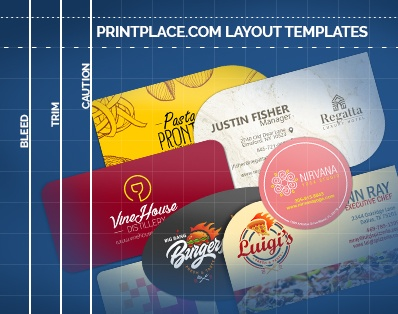 Die-Cut Business Cards templates thumbnail