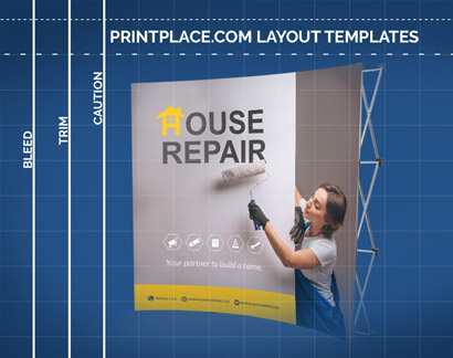 Curved Velcro Pop-Up Display templates thumbnail