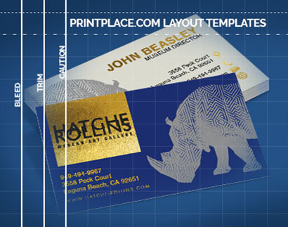 Foil Business Cards templates thumbnail