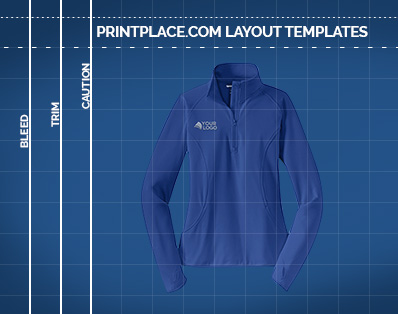 Ladies Sport-Wick® Stretch 1/2-Zip Pullover templates thumbnail