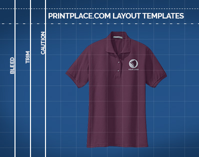 Ladies Silk Touch Sport Polo Shirt templates thumbnail