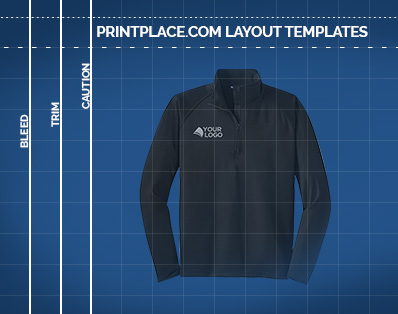 Sport-Wick® Stretch 1/2-Zip Mens Pullover templates thumbnail
