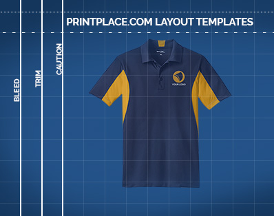 Mens Side Blocked Micropique Sport-Wick Polo templates thumbnail