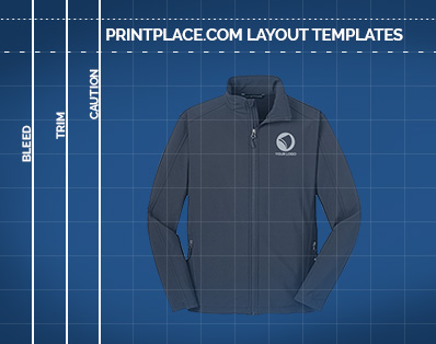 Mens Core Soft Shell Jacket templates thumbnail