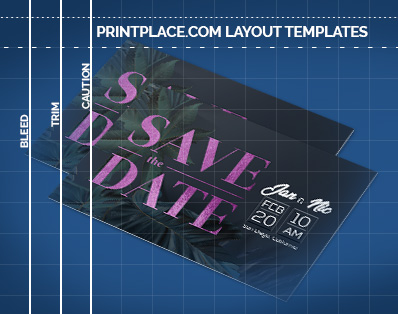 Metallic Save the Date Cards templates thumbnail