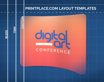 Curved Tension Pop-Up Display templates thumbnail