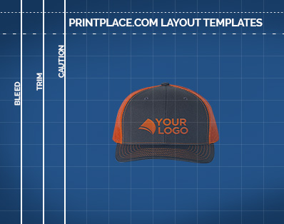 Richardson Trucker Snapback Cap templates thumbnail