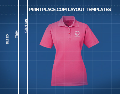 UltraClub Ladies Cool and Dry Mesh Pique Polo templates thumbnail