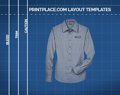 Harriton Ladies Long-Sleeve Twill Shirt templates thumbnail