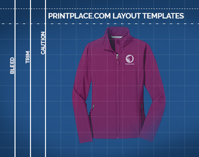 Ladies Core Soft Shell Jacket templates thumbnail