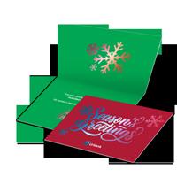 metallic greeting cards