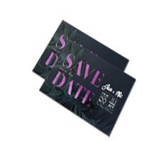 metallic save the date card printing