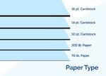 brochure paper type