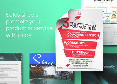 Print Promotional Sales Sheets