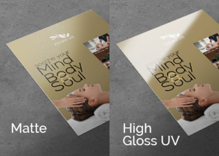 Matte and High Gloss Business Flyers