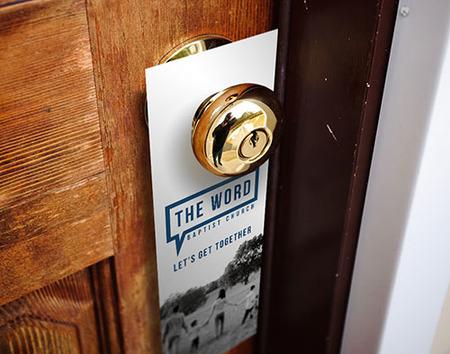 Custom Printed Church Door Hanger