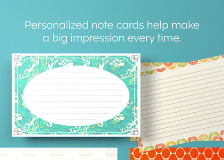 Note Card Printing Optional Rounded