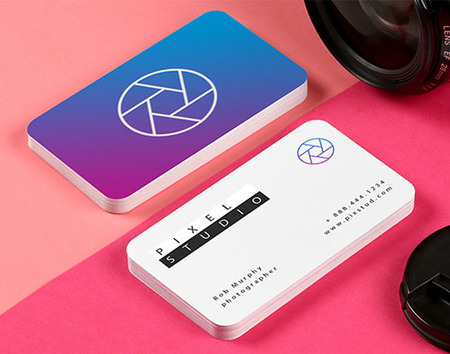 Rounded Corner Business Card Printing