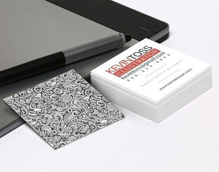 printed square business cards