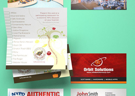 High Quality Folded Business Card Printing