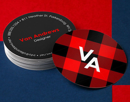 printed circle business cards