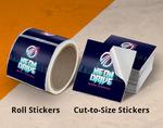 Cut-to-Size vs. Roll Vinyl Sticker