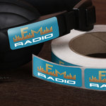 radio business sticker printing