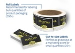 Roll Labels and Cut to Size Label Sizes