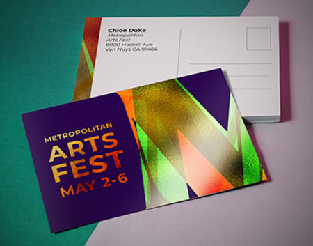 Printed Metallic Postcards