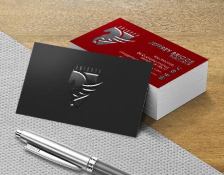 raised spot uv business card printing